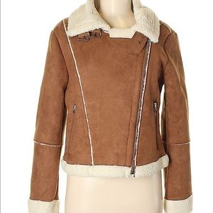 NWT ASTR the Label quincy faux shearling jacket